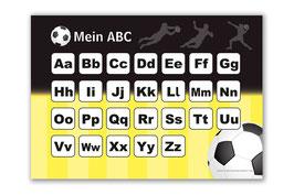 ABC Lernposter | Fußball schwarz-gelb