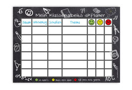 A4 Klassenarbeitsplaner - abwaschbar | Schultafel
