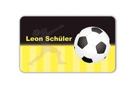 Brotdosenaufkleber | Fußball schwarz-gelb