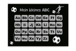 ABC Lernposter | Fußballspieler grau