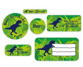 Schulaufkleber - Set | T-Rex