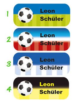 Namensaufkleber 2 x 5 cm | Fußball