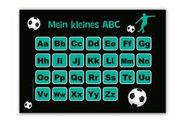 ABC Lernposter | Fußballspieler türkis
