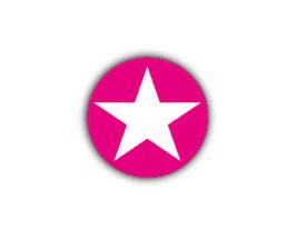 Aufkleber Mini Dots | Stern pink