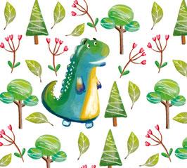 ECO - Kinderbordüre | Dino im Wald