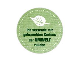 Verpackungsetiketten - rund | Der Umwelt zuliebe - Blatt