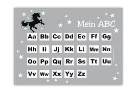 ABC Lernposter | Wildpferd - grau