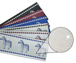 Silber - Metallic Bordüre | Zebra