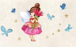ECO - Kinderbordüre   Kleine Blumenfee