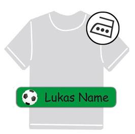Bügeletiketten 1 x 5 cm | Fußball - grün