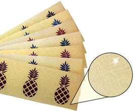 Gold - Metallic Bordüre   Ananas 1