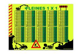 A4 NEON - 1x1 Lernposter | Baustelle