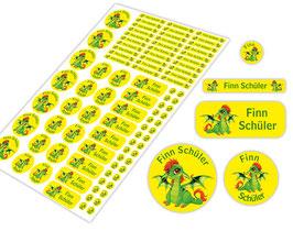 Schulstarter - Set   Babydrache grün