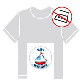 Kleidungsaufkleber rund | Segelboot