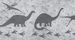 ECO Kinderbordüre   Dino-Spuren