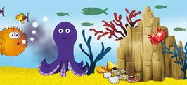 ECO - Kinderbordüre | Unterwasserwelt - Fische