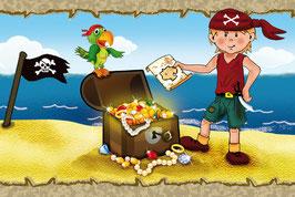 ECO - Kinderbordüre | Kleiner Pirat