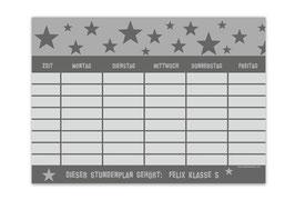 A4 Stundenplan | Sterne grau