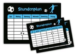 3 er Schulset: Stundenpläne | Fußball - 1 x A4 - 2 x A5