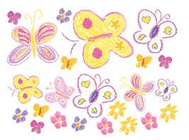 Wandaufkleber - Set  | Schmetterlinge