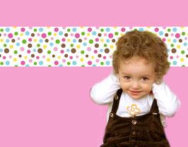selbstklebende Kinderbordüre | Bunte Punkte