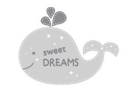 Wandaufkleber | Wal - Sweet Dreams