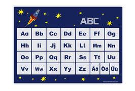 ABC Lernposter | Rakete