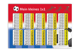 1x1 Lernposter | Fußball rot-blau