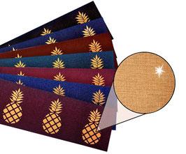 Bronze - Metallic Bordüre | Ananas