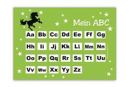 ABC Lernposter   Wildpferd - grün