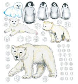Wandaufkleber-Set | Tiere der Polarwelt