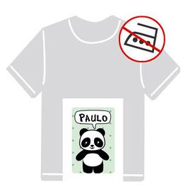 Kleidungsaufkleber | Pandabär - mint