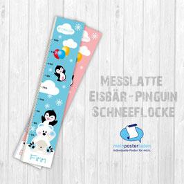 Messlatte | Eisbär - Pinguin - Schneeflocken