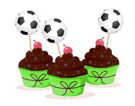 Kuchendeko  - selbstklebend  | Fußball