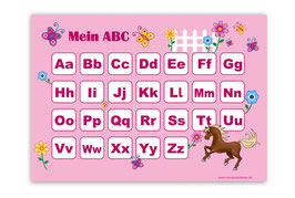 ABC Lernposter | Pony - rosa