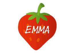 Form - Namensaufkleber | Erdbeere