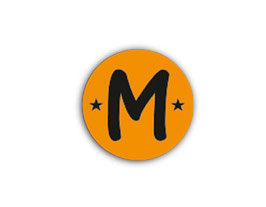 Aufkleber Mini Dots | Buchstabe orange