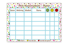 A4 Klassenarbeitsplaner - abwaschbar | Pünktchen