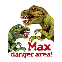 Türaufkleber - Set | T-Rex - danger area  - personalisierbar