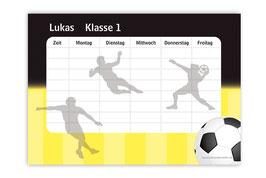 A4 Stundenplan | Fußball schwarz-gelb