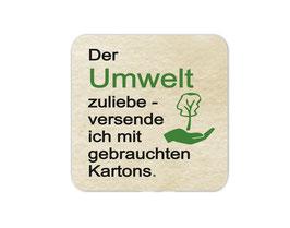 Verpackungsetiketten eckig | Der Umwelt zuliebe - Hand schützt Baum
