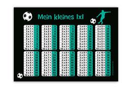 1x1 Lernposter | Fußballspieler türkis
