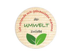 Verpackungsetiketten - rund | Der Umwelt zuliebe - Blätter