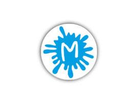Aufkleber Mini Dots | Klecks blau