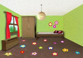 Fußbodenaufkleber | Blumen