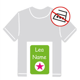 Kleidungsaufkleber | Stern grün-pink