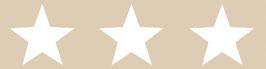 Kinderbordüre | Große Sterne - braun