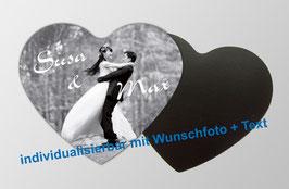 Magnetfotos - Herz |  mit eigenem Hochzeitsfoto personalisierbar