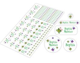 Schulstarter - Set | Schmetterlinge - grün