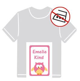 Kleidungsaufkleber | Eule - rosa